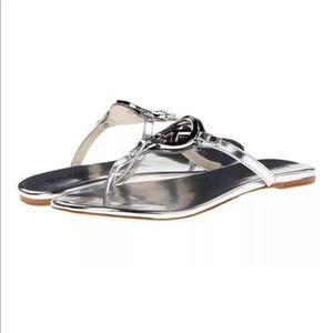 Michael Kors Melodie Metallic Logo Thong Sandal